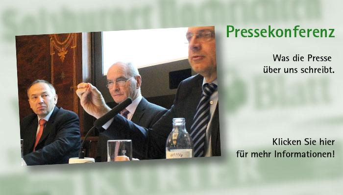 Unsere erste Pressekonferenz.